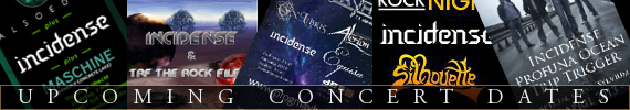Upcoming concert dates incidense